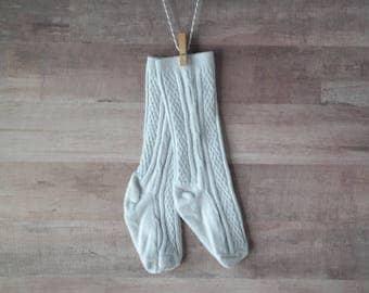 Light Gray Knee-High Stockings/Socks for Baby/Toddler