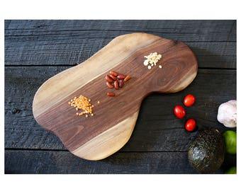 Small Charcuterie Board, Black Walnut, Artisan Serving Board, Wood Serving Tray, Cheese Platter