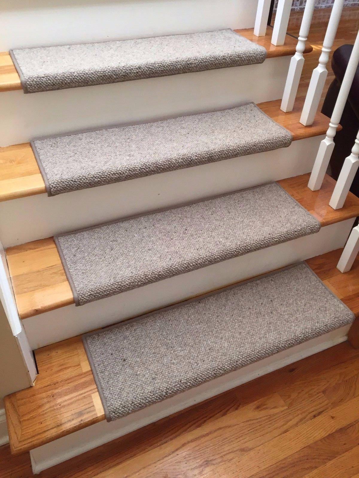 Alfa Stone 100 Wool True Bullnose Carpet Stair Tread