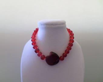 Red Beaded Stretch Bracelet, Red Stretch Bracelet, Beaded Stretch Bracelet, Red Beaded Bracelet, Red Beaded Stretch Ankle Bracelet