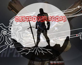 Overwatch prop digital blueprint, Reaper's Dual Shotguns. For cosplay (DestroyerPropsStudio)