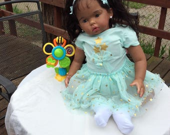 Ethnic Toddler Reborn doll for sale - Tibby 'sitting' kit   Payment Plan Available