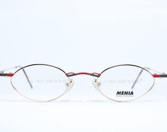 MENIA Brille Eyeglasses Occhiali Lunettes Gafas Oval Small Lenses 4089-3 37-28 pCmtuUt08W