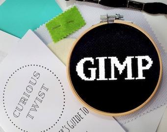 Gimp- naughty cross stitch kit - modern, DIY beginner craft kit - Rude cross stitch kit- mature stitch-alternative gift- fetish cross stitch