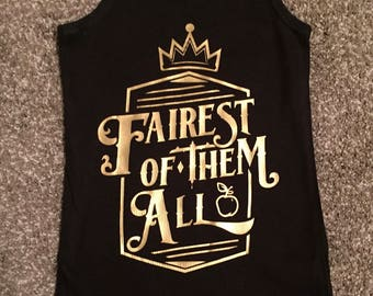 FAIREST Of THEM ALL, Snow White Shirt, Fairest Princess Shirt, Mirror Mirror Shirt, Disney Shirt, Snow White T-shirt, Evil Queen Shirt