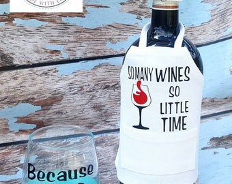Wine bottle apron and hat
