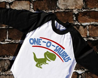 One-o-saurus Dinosaur birthday shirt
