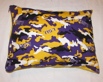 LSU tigers throw pillow