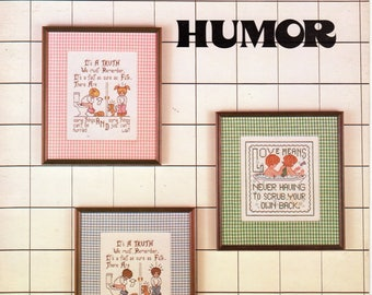 Bathroom Humor Cross Stitch Book - Three Needles