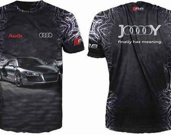 New ultramodern 3D  High Quality Audi   Men's T-shirt