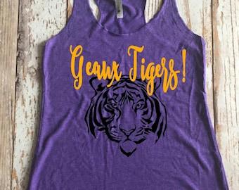 Tigers Ladies Racerback Tank