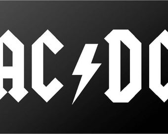 AC/DC Vinyl Decal Car Window Laptop Malcolm Young ACDC Sticker