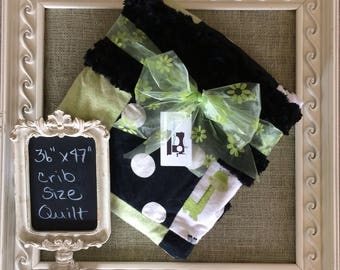 Handmade Crib Size Patchwork Quilt