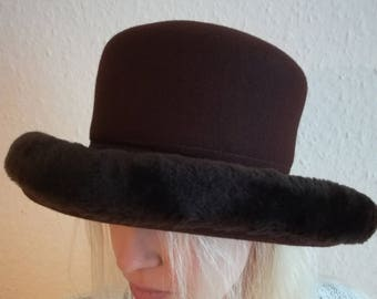 Vintage women Wool Hat made in England