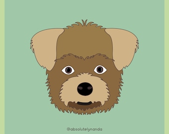 Morkie, Pet Illustration, Pet art, Dog Art, Dog Illustration