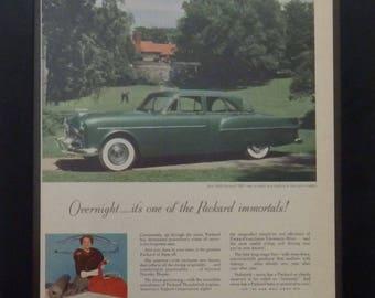 Packard 300 for 1952, Vintage Ad, Dorothy Draper Design, Packard Motor Co, Garage Decor, Man Cave Decor, Classic Cars