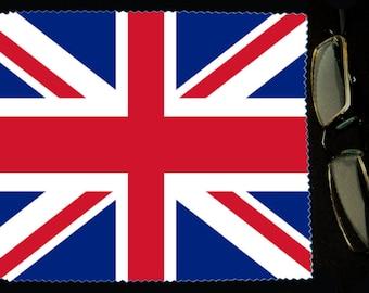 Cloth wipes UK flag sunglasses