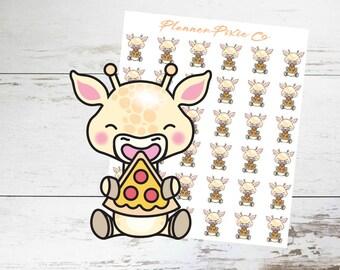 Giraffe Planner Stickers // Pizza Night // Cheat Day