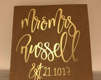 Personalised wedding card | personalized wedding card