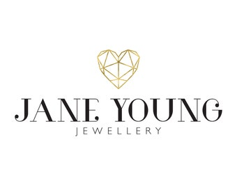 Jewellery Logo, Heart Logo, Gold Logo, Beauty Logo, Wedding Planner Logo, Photography Logo, Logo Set, Premade Logo, Logo Design