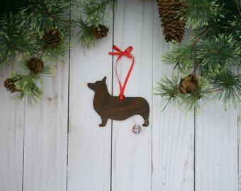 Customizable Corgi Christmas Tree Ornament | Personalized Dog Ornament