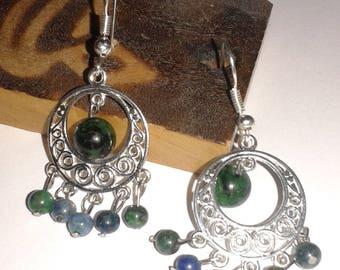 "Pair of pierced earrings ""Fullness"""