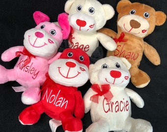 Cute Personalized Stuffed Animals, Easter Gift, Plush Bear, Personalized Animal, Personalized Gifts
