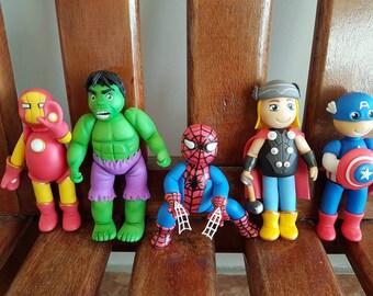 Little Avengers 5 PCS baby cake topping