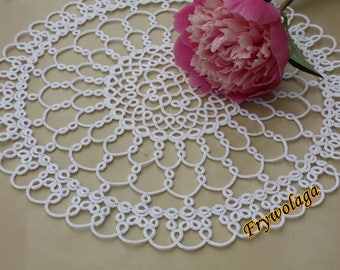 Tatting Pattern Doily, Tatting pattern napkin, Shuttle tatting pattern napkin, Instant download PDF, 2 Schemes Tatting lace Pattern PDF