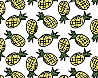 Pineapple Desktop Wallpaper - Digital Art, Instant Download, Computer Wallpaper, Backgrounds, Mac, PC, Fruit, Pattern, Pattern Design