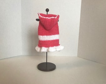 Dog Hoodie/Crochet/ Small Dog Sweater/Handmade Dog Sweater/Puppy/Dog/Dog Costume