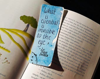 What is essential is invisible to the the eye - Handmade Bookmark - The Little Prince - Le Petit Prince - Antoine de Saint-Exupéry