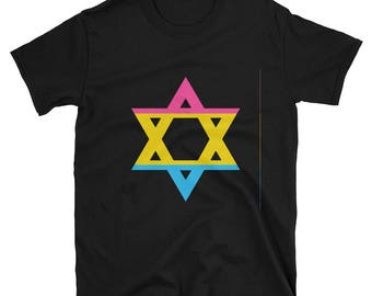Pansexual Pride Magen David/Star of David Unisex T-Shirt lgbt lgbtqipa lgbtq mogai