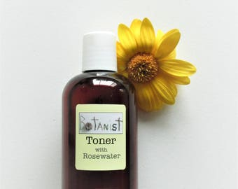 Rosewater Toner with Green Tea for Combination Skin | Handmade