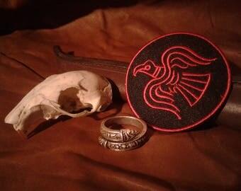Viking Jormungandr Alchemical Talisman Serpent Snake Ring and Free patch