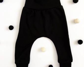 Black harem pants.