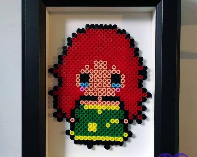 Disney Princess, Princess, Merida, 8 bit, pixel art, bead art, pixel beads, hama, perler, box frame, framed art, beads