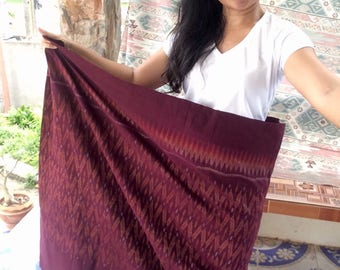 Old thai silk handmade purple fabric