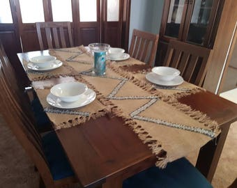 Handmade table runner and matching placemats