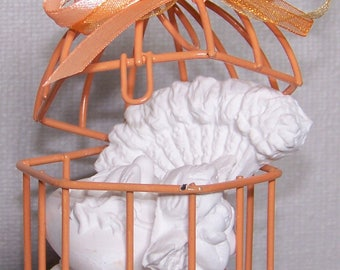 Mini scented decors with bird cage
