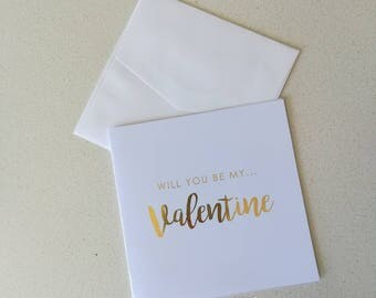 Will you be my Valentine Card. Happy Valentine's Day Card.
