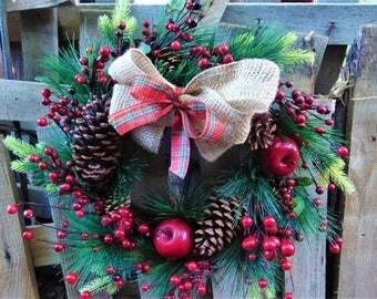 Fall Wreath Autumn Crown Christmas Wreath Pine Cone Wreath Rustic Wreath Door Wreath Holiday Wreath Natural Wreath Winter Wreath