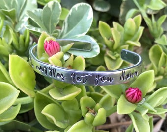 """Don't let the muggles get you down 6"""" cuff <Aluminum or Copper>"""
