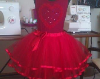 Юбка-пачка.Юбка-туту.Kit skirt - red tutu ,tulle for girl 8 years.Танцевальный костюм.