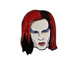 Marilyn Manson Collaboration Enamel Pin with @windowblues   Marilyn Manson collectible flair for your hat, lapel, jacket