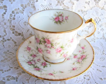 Paragon cup Victoriana Rose cup Pink roses cup saucer English tea set Afternoon tea Shabby decor Shabby tea party Princess party Mother gift