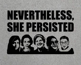 Nevertheless, She Persisted T Shirt Elizabeth Warren   Womens March Anti Trump Tee Shirt letlizspeak