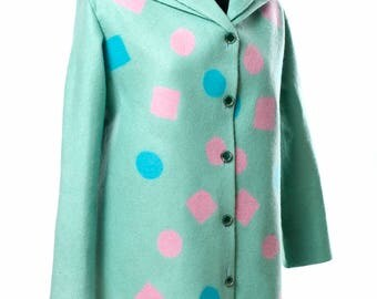 "Summer coat ""Mint geometry"""