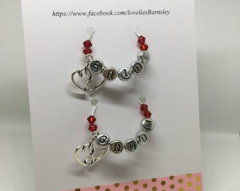 Bride and Groom Wine Glass Charm Set