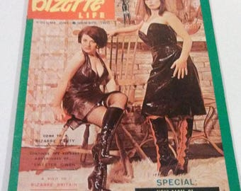 Bizarre Life Magazine / 1966 Fetish Magazine / Pinup Magazine / Girlie Magazine / Bettie Page